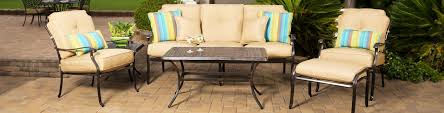 oak cliff 7piece metal outdoor dining set with chili cushions