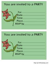 birthday party invitation templates free printable cimvitation