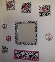 zebra print fabric wall hanging wall decor mini fabric wall