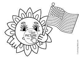 happy independence day coloring pages for kids july 4 printable