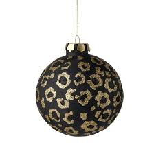 leopard print ornaments invitation template