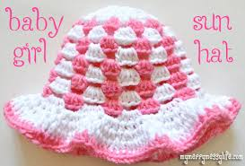 baby girl crochet stitch sun hat baby girl free crochet pattern my