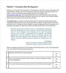 transition plan template for leaving job plan templatesample