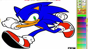 sonic sega u0027s mascot coloring page sonic coloring game youtube
