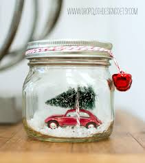 car in jar snow globe jar crafts love