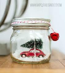 car in jar snow globe mason jar crafts love