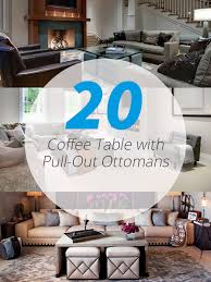pull out coffee table 20 charming coffee table with pull out ottomans home design lover