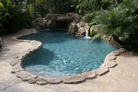 free form pool with grotto all aqua pools
