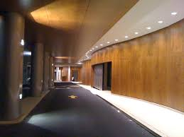 Eminent Interior Design by Charming Open Space Galley With Curvy Wood Paneling Ideas Added