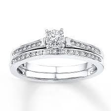 kay jewelers engagement rings kay diamond bridal set 1 8 ct tw round cut 10k white gold