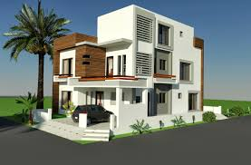 3d front elevation com 10 marla corner house plan design of tariq