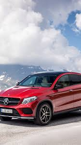 mercedes wallpaper iphone 6 hd background mercedes benz gle 450 coupe red color mountains
