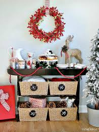 christmas cocoa donut bar at home sand and sisal