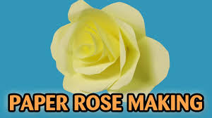 how to make paper rose flower flowers for beginners making