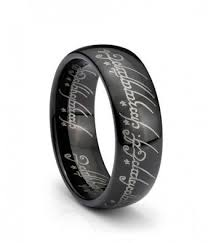 the one ring wedding band black ip one elvish script ring tungsten carbide unisex wedding