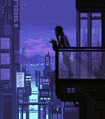 art landscape cityscape scifi science fiction pixel art pixel