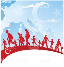 Flag People Immigration People On Turkey Flag Stock Vector Art 510583520 Istock