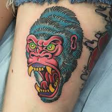 here are a couple gorilla tattoos that i had the pleasure of