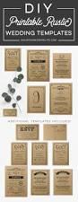 printable black rustic vintage diy wedding invitation set