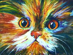 how to paint a colorful calico cat pawgustart 60 minute step by