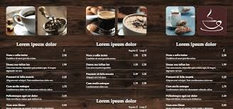 menu publisher template tri fold leaflet cafe menu istudio publisher page layout