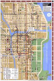 City Of Chicago Map by Of Chicago Usa