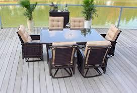 Amazoncom  Pc Cast Aluminum Sling Patio Furniture Set  Outdoor - Aluminum sling patio furniture