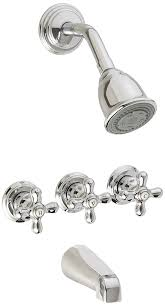 amazon com pfister 01 8cbc three handle tub and shower combo amazon com pfister 01 8cbc three handle tub and shower combo chrome home improvement
