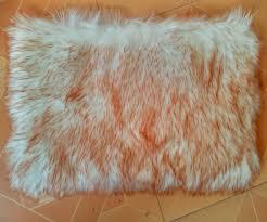 tappeti di pelliccia reale faux pelle di pecora tappeto letto coperta di pelliccia