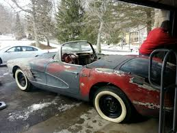 corvette project for sale 1958 corvette project car for sale in springfield ohio united