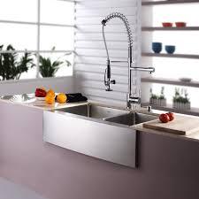 farmhouse faucet kitchen kraus 32 88 x 20 75 basin farmhouse kitchen sink with