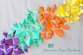 backdrop paper diy geometric paper backdrop