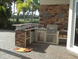 prefabricated kitchen island kitchen traditional outdoor kitchen idea with brown brick l shaped