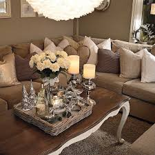 Living Room Decor With Brown Leather Sofa Brown Sofa Cushions Ideas With Regard To Accent Pillows For Decor
