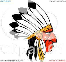cartoon native american clipart 33