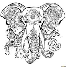 best elephant mandala coloring free printable online best