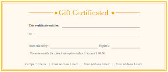 custom gift certificates custom gift certificate templates free templates resume