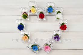 wedding gift malaysia preserved flower ring shape box for wedding door gift in