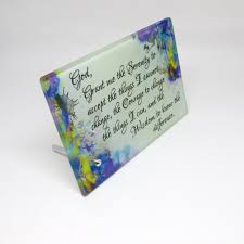 serenity prayer picture frame glass frame serenity prayer floral total focus apparel