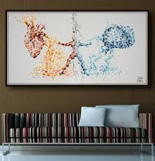 splash home decor heart vs brain conflict painting 72