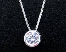 silver zirconia necklace images Cubic zirconia etsy jpg