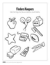 health worksheets for kindergarten koogra
