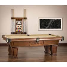 pool table wall rack american heritage guinness billiard table with wall rack