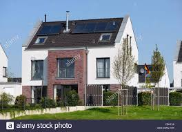 Duplex Building by Modern Duplex House Germany North Rhine Westphalia Düsseldorf