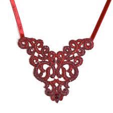 lace necklace images Satellite s ville red lace necklace jj caprices jpg