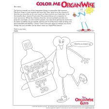 summer sun safety coloring page