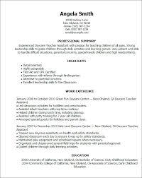Personal Carer Resume Child Care Resume 2 Child Care Resume 2014 Child Care Worker