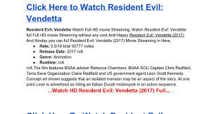watch resident evil vendetta 2017 free streaming google docs