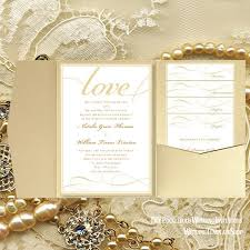 pocket fold pocket fold wedding invitations it s chagne gold 5x7