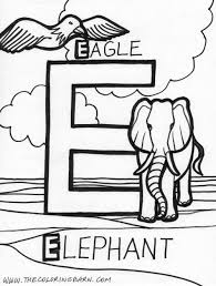 letter e coloring pages of alphabet e letter words for kids in
